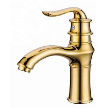 YLB0129 Gold tap brass bathroom deck mounted basin sink mixer tap faucet