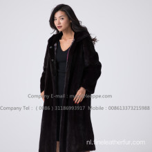 Kopenhagen Lady Mink Fur Reversible Women Overcoat