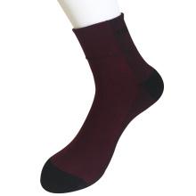 Media almohadilla poli trenzado hilos moda trimestre borgoña calcetines (jmpq01)