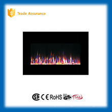"36"" wall mounted gorgeous fire wood fireplace with remote control"