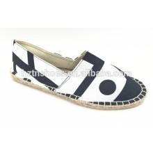 Fashion canvas shoes cheap espadrille shoe women china supplier
