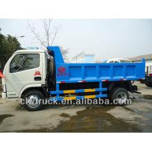 Dongfeng Pequena 4CBM Slip Cover Dump Truck, caminhão basculante 4x2