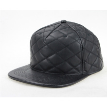 Customize Faux Leather Brim Hat Snapback Cap