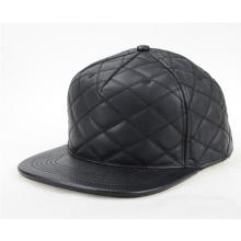 Customize Faux Leather Brim Hat Snapback Cap