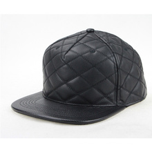 Personalizar Faux Leather Brim Hat Snapback Cap