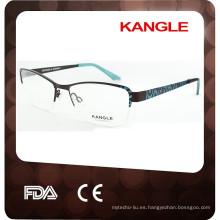 2017 gafas al por mayor del acetato y del metal de la fábrica del marco de la mitad del borde 2015