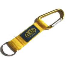 Karabiner Schlüsselanhänger mit eingraviertem Logo