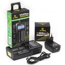 Chargeur de batterie Xtar Vc2 Plus Master Batterie USB Li Ion Chargeur de batterie 18650 Chargeur de batterie