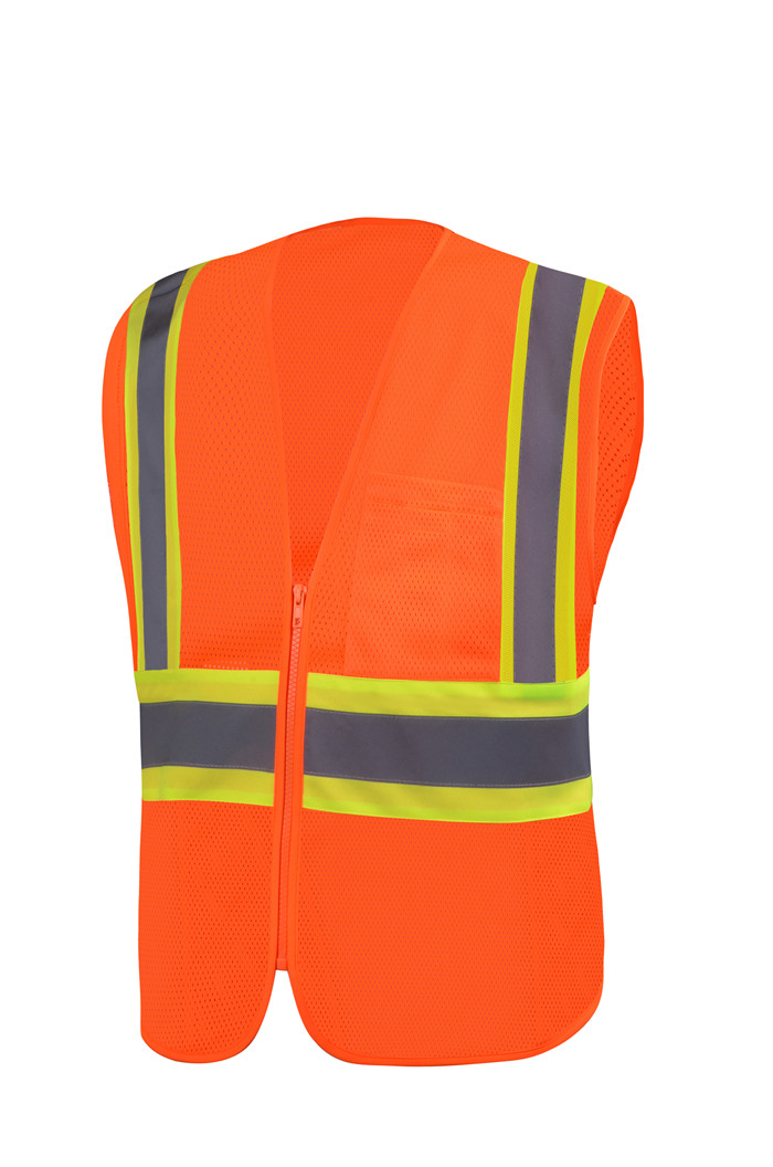 Road LED PVC Reflex Warning Vest