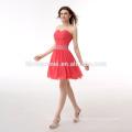 China OEM mais recente projeto mulheres mini vestido de chiffon senhoras melancia vestido de noite vestido vermelho