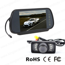 7inches Rückspiegel-Monitor mit Sicherungs-IR-Platten-Kamera