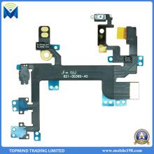 Câble de câble de bouton de sourdine de volume de puissance de rechange pour l'iPhone Se