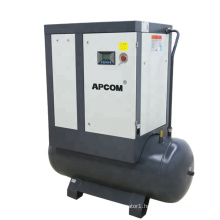 APCOM 2021 hot sale 7.5KW 10HP  rotary screw air compressor with dryer 500L