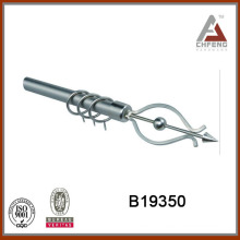 B19350 home decor hardware,wrought iron curtain rod finials,double single rail curtain accessories