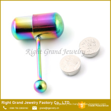Gestüt Langhantel Körper Piercing Schmuck / Chirurgenstahl vibrierende Zunge Ring
