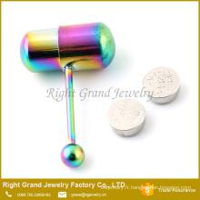 Haras de bijoux de piercing Barbell / langue vibrant acier chirurgical