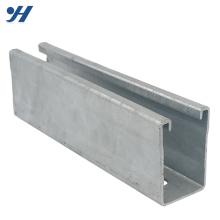 Canal de suporte de aço galvanizado resistente à corrosão