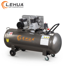 300l 4hp ac power lubricated italy style mobile air compressor