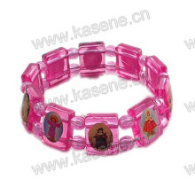 Colored Plastic Rosary Bracelet, Saint Bracelet
