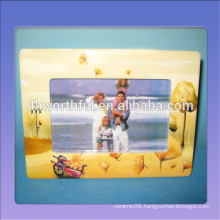 2016 new arrival wholesale handpainted ceramic family photo frame