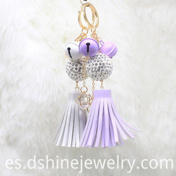 Tassel Keychain With Clasp For Bag Shambala Pendant