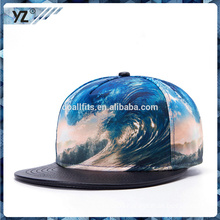 wholesale 2016 fashion Rap hip hop leather and digital printing snapback hats cheap could custom printing LOGO