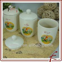 Tarro de almacenamiento de cerámica