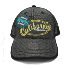 Wholesale Straw Front Panel Trucker Cap with Patch Logo