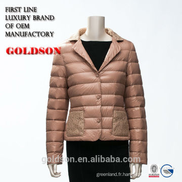 2017 Spring Ultralight Short Woman Slim Down Jacket With Embroider
