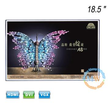 Novo quadro aberto sem moldura Monitor LCD de 18,5 polegadas com entrada HDMI VGA DVI