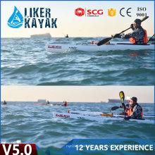 5.0m profesional de una persona sentarse en el barco pionero del plástico del kajak del pionero
