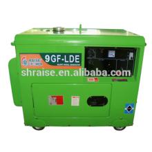 Générateur diesel silencieux refroidi par air de 7KW