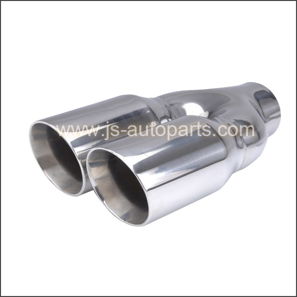 DUAL DOUBLE WALL CONE SHAPE EXHAUST TAIL PIPE TRIM TIP
