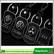 Metal Leather Car Logo Keychain for Sale
