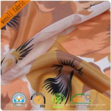 Ткань сатин шелк печати шелковой ткани для платье и шарф