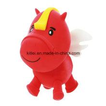 Belle cheval sautant stress doux Noël cadeau jouet en plastique vinyle