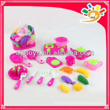 Kids cooking toy bright color kitchen play set