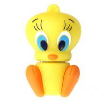 A movimentação amarela bonito do flash de USB do pato personalizou a movimentação 1GB da pena 3D, 2GB, 4GB, 8GB, 16GB, 32GB