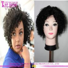 New arrival Small Head Virgin Hair Full Lace Wig Mongolian Kinky Curly Hair