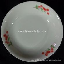 Weiße keramische Frucht Teller, Nahrungsmittelplatte, Snackplatte