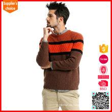 Nuevo suéter del suéter del suéter del estilo de la manera que hace punto suéter de los hombres de las lanas del patrón