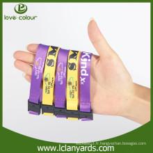 Bracelets sportifs détachables personnalisés en polyester