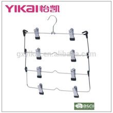 2015Foldable and multifuctional 4-tier chrome plated metal skirt hanger