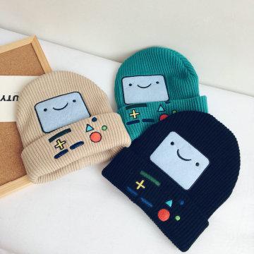 Мультяшные нашивки с вышивкой Smile Cotton Cap Outdoor Hat