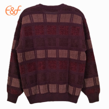 Oversize Heavy Weight  Vintage Maroon Sweater for Men