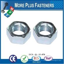 Fabriqué en Taiwan Métrique en hexagone selon DIN 555 Acier Plain Zinc Plaqué
