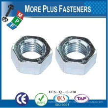 Made in Taiwan Metric Hexagon Nut to DIN 555 Steel Plain Zinc Plated