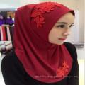 Venda quente hijab caps Muçulmano islâmico tecido chiffon hijab planície senhoras cachecol novo estilo