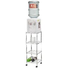 Chrome Living Room Metal Wire Trolley Rack (CJ303090CW)