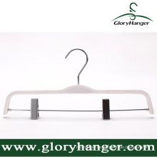 Weißer Sperrholz-Aufhänger für Bekleidungsgeschäft-Anzeige